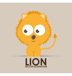 lion cute design vector image vector image