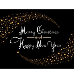 Merry Christmas Star card template vector image vector image