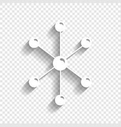Molecule sign white icon vector