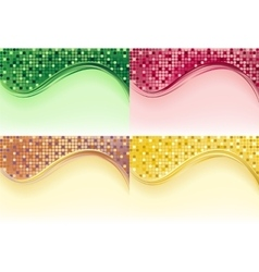 Mosaic tile - 4 colors vector