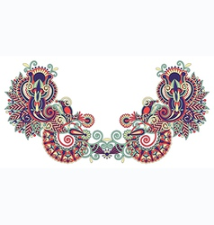 Neckline embroidery fashion vector