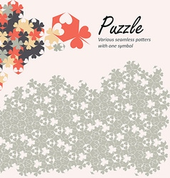 Puzzle seamless pattern of dfferent styles created vector