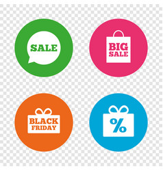 sale speech bubble icon black friday symbol vector image