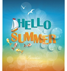 Say Hello to Summer creative graphic message vector image