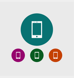 smartphone icon simple vector image vector image