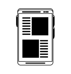 Smartphone with app page icon image vector
