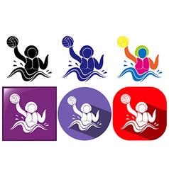 Water polo icon in three design vector