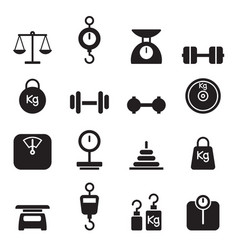 weight icon set vector image