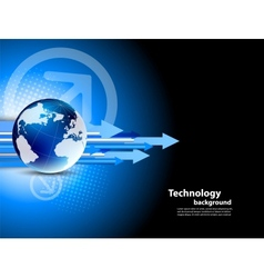 Tech background vector image