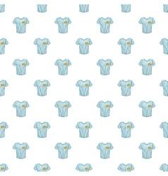Striped baseball shirt pattern cartoon style vector image