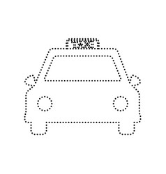Taxi sign   black dotted icon vector