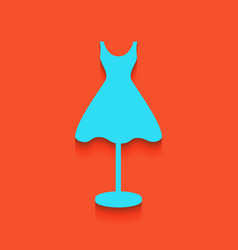 Mannequin with dress sign  whitish icon on vector