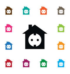 Isolated socket icon edifice element can vector