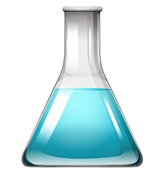 Blue liquid in container vector