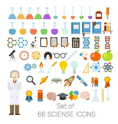 Set of 66 sciense icons vector