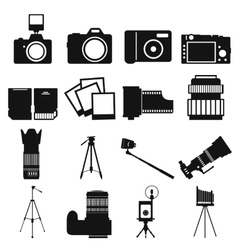 Photography simple icons vector