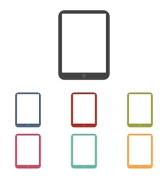 Computer tablet icons set vector