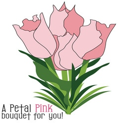 Petal pink bouquet vector