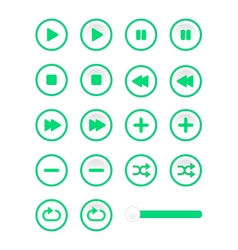 Soft music control buttons vector
