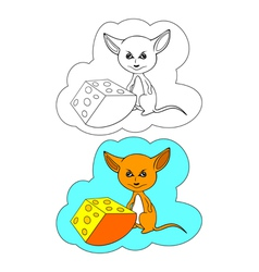 Color-In Mouse vector image