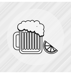 Delicious beer design vector