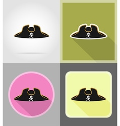 Pirate flat icons 04 vector