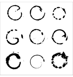 Set of hand drawn scribble circles design vector