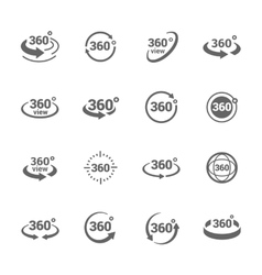 Icons 360 degree view vector