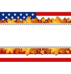 American Flag Banner vector image