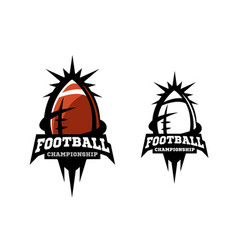 american football two options vector image vector image