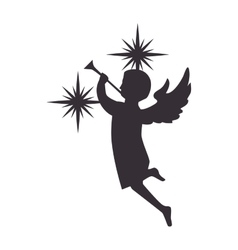 angel playing a trumpet vector image
