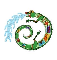 aztec crocodile vector image