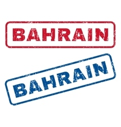 Bahrain rubber stamps vector
