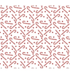 Christmas seamless pattern with candy cane vector image