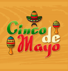 Cinco ge mayo day vector