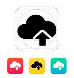 Cloud computing upload icon vector