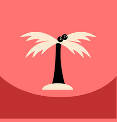 Flat icon design collection palm tree silhouette vector