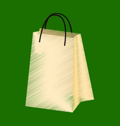 flat shading style icon paper bags vector image vector image