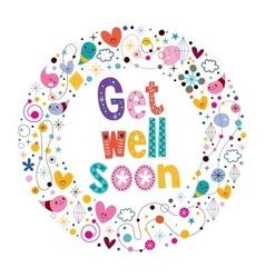 Get well soon card 3 vector