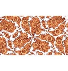 Henna tattoo style seamless pattern vector