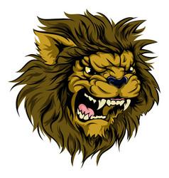 Lion mascot character vector