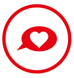 Love message balloon rounded icon vector