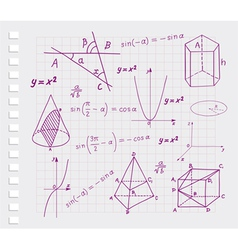 Mathematics - geometric shapes vector image vector image