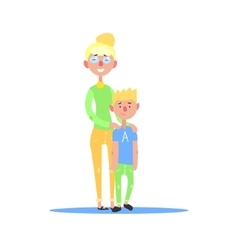 Mother And Teenage Son Blond Couple vector image vector image
