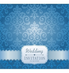 Ornate damask background invitation to the vector