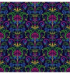 Pattern exotic flowers vector image vector image