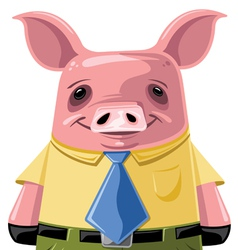 professional pig vector image