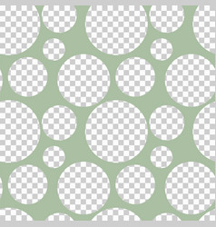 Round seamless pattern of random circles vector
