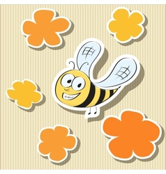 Set of Elements Flower-shaped Paper Tags and vector image vector image