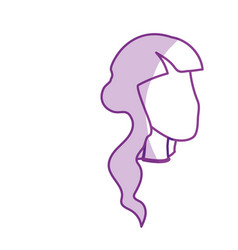 silhouette beauty woman face with hairstyle vector image